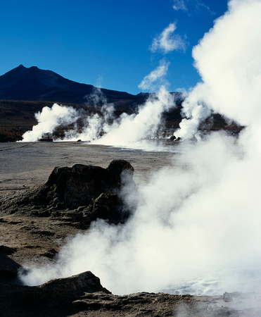Daybreak at El Tatio Geysers Atacama,Chile